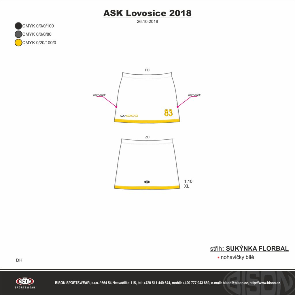 ASK Lovosice LFP sukýnky - fanshop